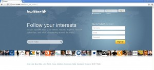 the Twitter user name and password phishing page