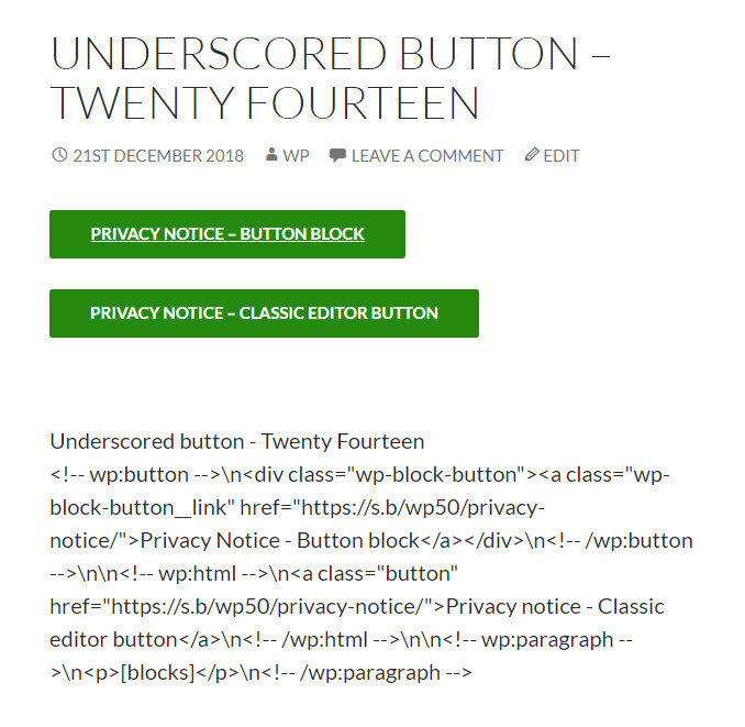 Demonstrating the different styling of the Button.
